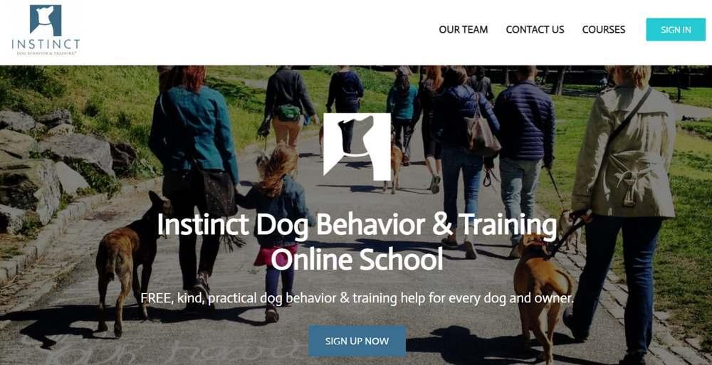 online dog training instinct