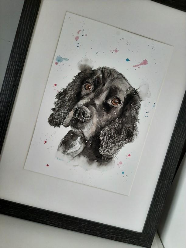 Katie Louise Art black dog